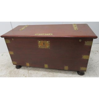 Victorian Mahogany Brass Bound Dovetailed Trunk Preview