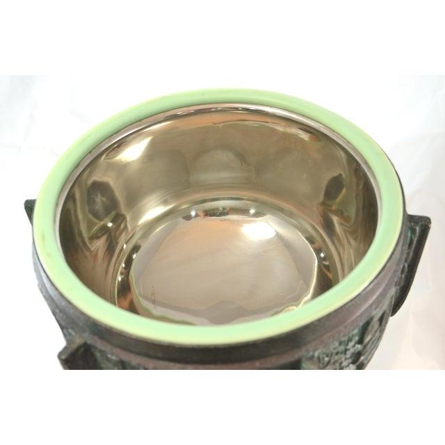 1960s Aqua James Mont Oversize Ice Bucket For Sale - Image 5 of 8