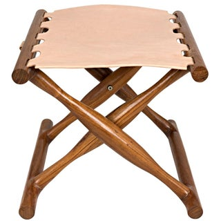 Teak and Leather Stool Preview