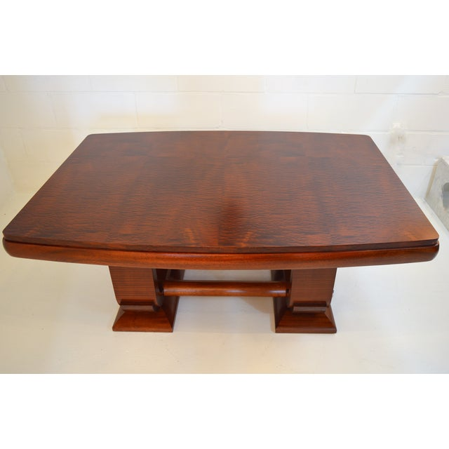 1930s Fabulous Gaston Poisson Art Deco Dining Room Table in Mahogany, 1930. For Sale - Image 5 of 11