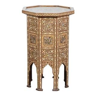 Syrian Large Octagonal Pedestal Table