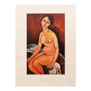 "1947 Amedeo Modigliani, Original ""Nu Assis"" Parisian Lithograph For Sale"