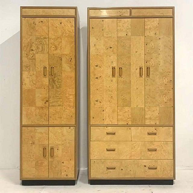 "Stunning Henredon ""Scene Two"", 2-piece wood wall unit, dresser with shelving unit, 1970s. Late 20th century modern Classic..."