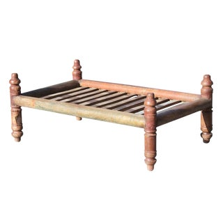 Indian Red Pidda Table For Sale