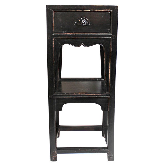 Antique Black Side Table - Image 1 of 3