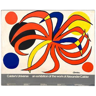 "Alexander Calder Exhibition Museum Billboard ""Calder's Universe"", 1977 For Sale"