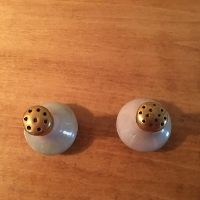 Asian Lusterware Salt & Pepper Shakers For Sale - Image 3 of 4