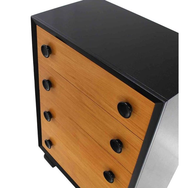 Art Deco Two-Tone Mid-Century Modern Four-Drawer Dresser For Sale - Image 3 of 7