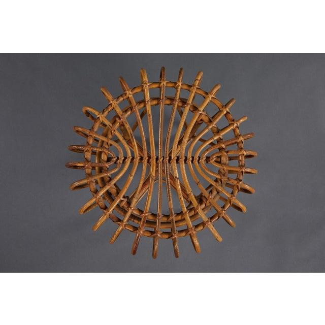 Franco Albini A Petite Pair of Sculptural Rattan Stools For Sale - Image 4 of 10