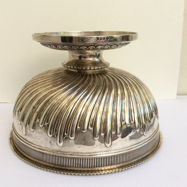 Antique English Sterling Silver Punch Bowl For Sale - Image 5 of 11