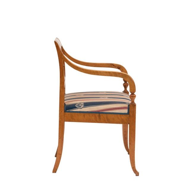 Biedermeier Swedish Biedermeier Birch Arm Chair For Sale - Image 3 of 6