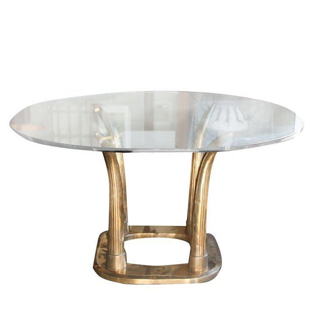 Brass Tusk Dining Table For Sale - Image 9 of 9
