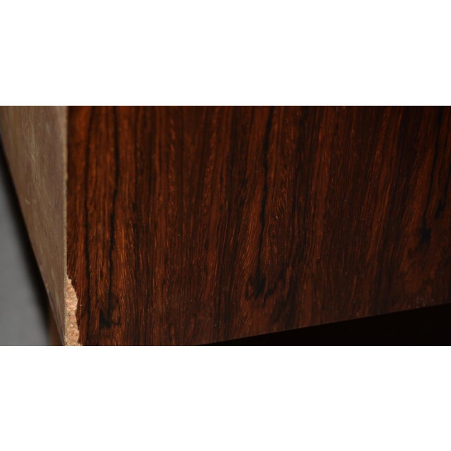 Danish Mid Century Modern Rosewood Cylinder Desk C.1960s Made in Sweden by Ostergaard For Sale In San Francisco - Image 6 of 8