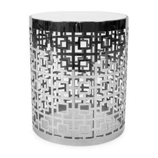 Contemporary Jonathan Adler Nixon Polished Nickel Side Table Preview