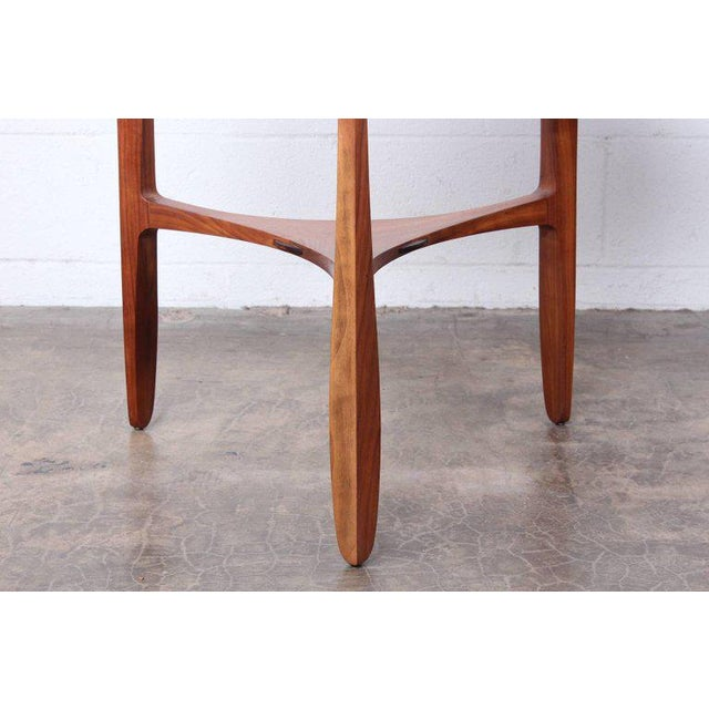 Dunbar Janus Table by Edward Wormley With Natzler Tiles For Sale In Dallas - Image 6 of 12