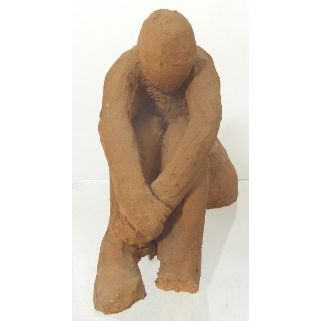 1978 Vintage Seated Terracotta Figure - Image 7 of 11