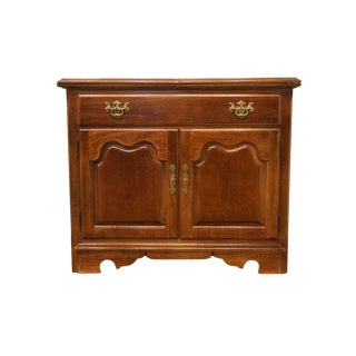 20th Century Traditional Thomasville Furniture Collectors Cherry Flip-Top Server