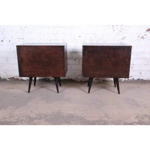 Paul McCobb Planner Group Mid-Century Modern Nightstands, Newly Refinished - a Pair For Sale - Image 12 of 13