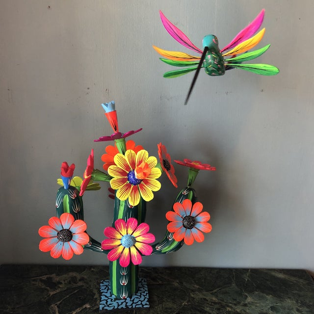 Mexican Hand Carved Alebrijes - a Pair For Sale - Image 10 of 10