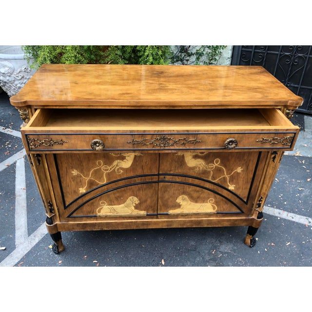 Vintage Neoclassical Satinwood Inlaid Commode by Traditional Imports For Sale - Image 4 of 5