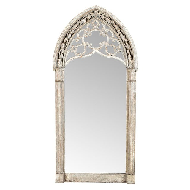 Rustic Vintage Arched Window Mirror For Sale - Image 3 of 3