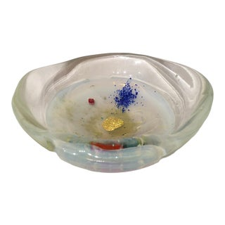 Vintage 1990s Postmodern Italian Art Glass Bowl For Sale