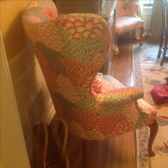 Queen Anne Round Style Arm Chairs - Pair - Image 3 of 3