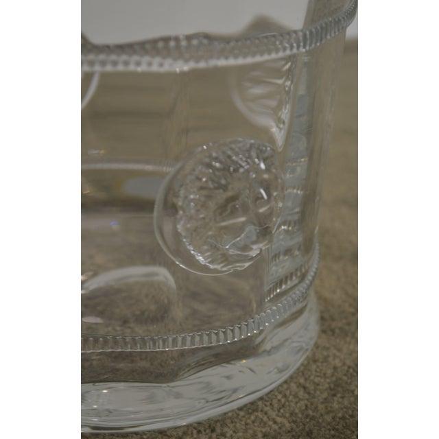 Abigails Czech Republic Lion Head Glass Ice Bucket For Sale - Image 11 of 13