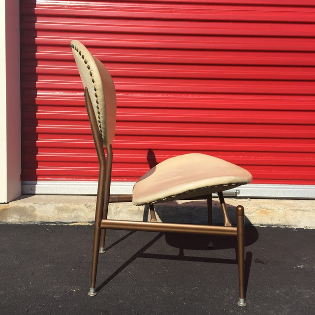 Mid-Century Modern Metal Framed Chair - Image 5 of 9