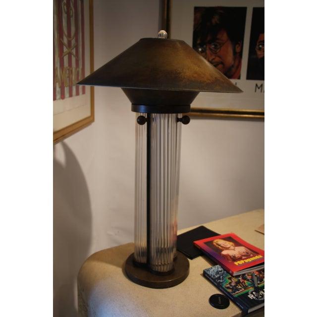 Bronze Patina Steve Chase Designed Lamp For Sale - Image 9 of 9