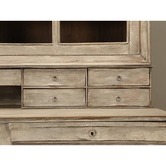 White Antique French Bookcase and Desk For Sale - Image 8 of 10
