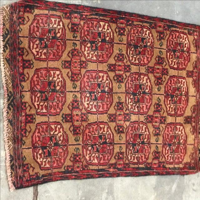 "Vintage Turkaman Persian Rug - 2'1"" X 2'7"" - Image 3 of 7"