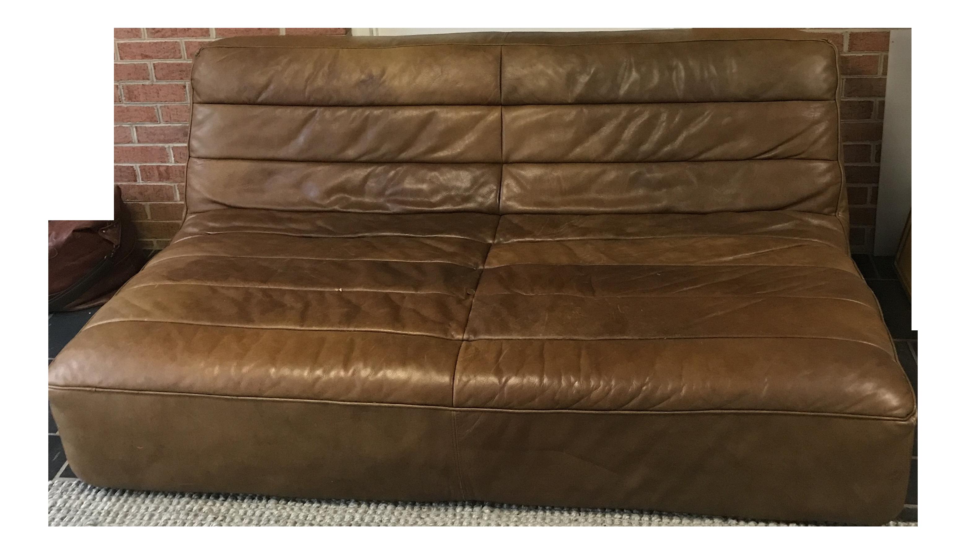 restoration hardware leather couch. Restoration Hardware Chelsea Leather Sofa Couch O