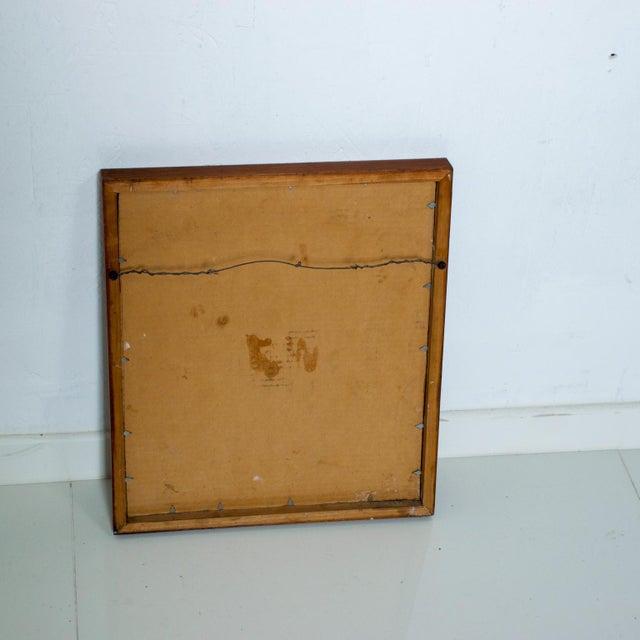 1980s Mid Century Modern Abstract Enamel Art, Framed, Pedro Coronel Era For Sale - Image 5 of 7