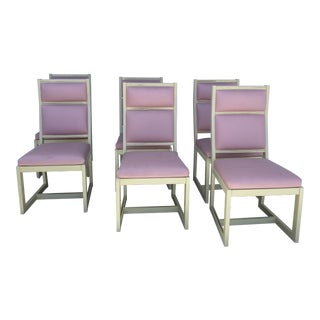 Artdeco Style Set of 6 Dinning Chairs For Sale