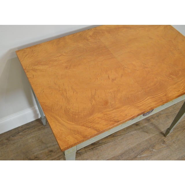 Brown Schmieg & Kotzian Adams Hand Painted One Drawer Side Table For Sale - Image 8 of 12