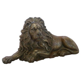 Cast Iron Recumbent Lion