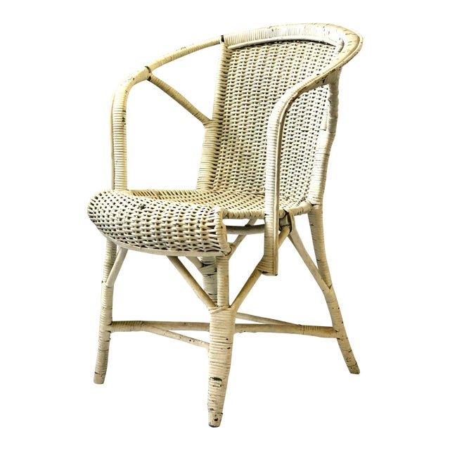 Early 20th Century Wicker Child's Chair For Sale