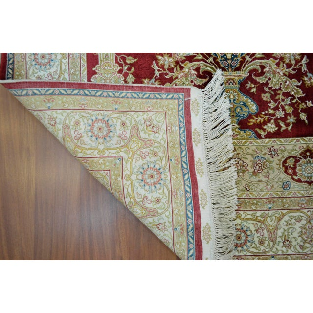 Hand Knotted Turkish Silk Rug - 3′1″ × 4′5″ - Image 9 of 9