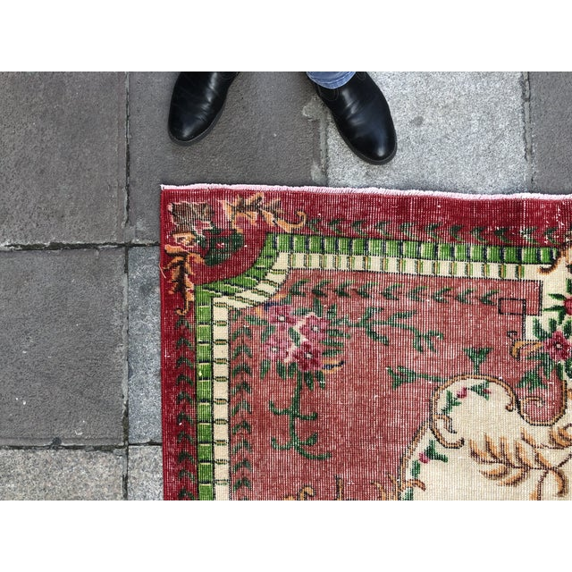 1960s Vintage Turkish Rug - 5′4″ × 9′2″ For Sale - Image 9 of 10