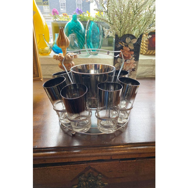 Metal Mid 20th Century Dorothy Thorpe Glassware Set - Set of 10 For Sale - Image 7 of 9