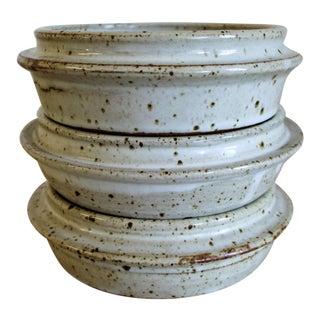 Ken Ferguson Studio Pottery Stacking Bowls - Set of 3 For Sale
