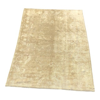 Vintage Turkish Oushak Beige Wool Large Area Rug - 8'x10'10""