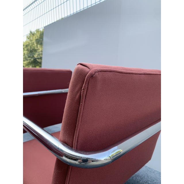 1970s Chrome Cantilever Chairs Attributed to Thonet - Set of 3 For Sale In Charlotte - Image 6 of 12