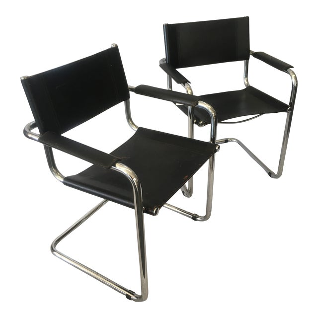 Cantilever Chairs by Marcel Breuer - Pair - Image 1 of 10