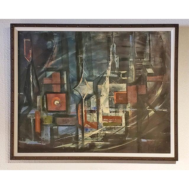 """Bridges"" Oil on Masonite Painting For Sale In Austin - Image 6 of 6"