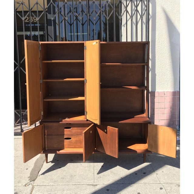 Mid Century Modern 2 Piece Bookshelf - Image 6 of 9