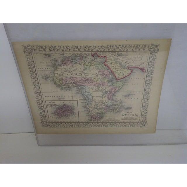 African Vintage 1860 Original Map of Africa For Sale - Image 3 of 8