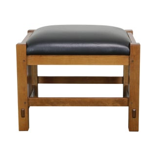 Stickley Mission Collection Cherry Footstool For Sale