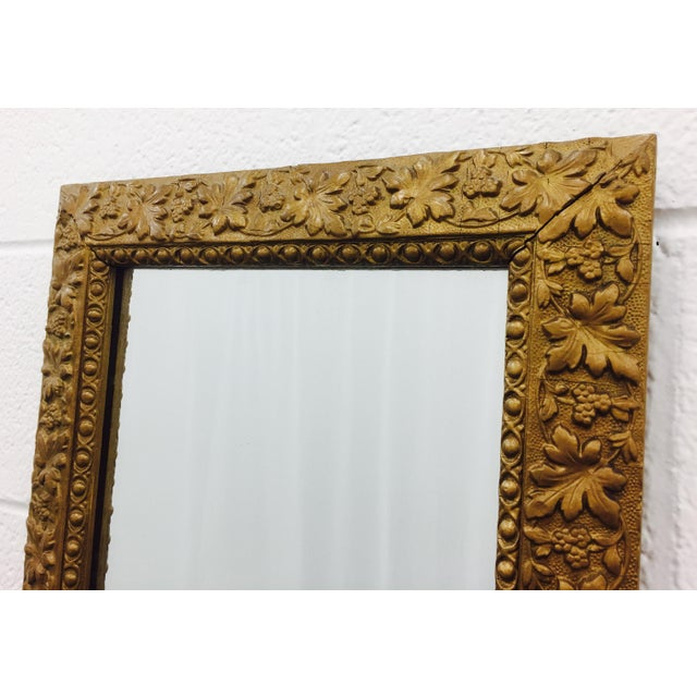 Antique Gold Giltwood & Gesso Mirror For Sale In Raleigh - Image 6 of 9